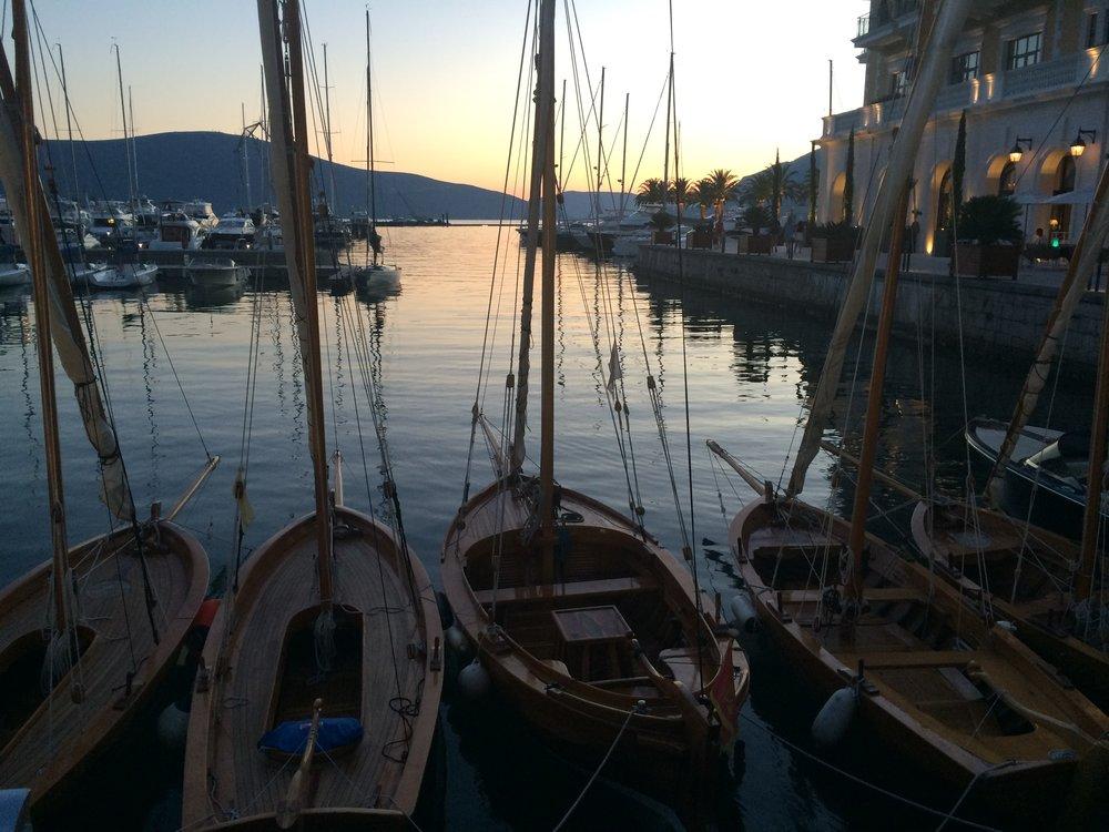 Porto Montenegro sunset