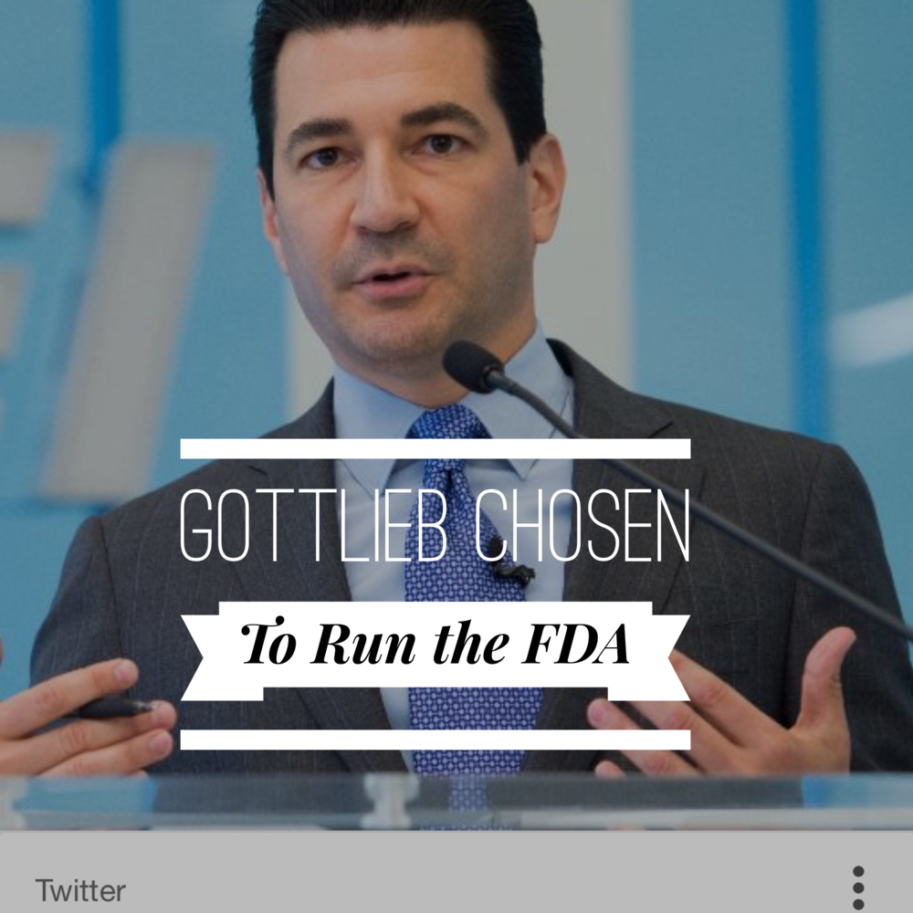 gottlieb chosen by trump to run fda the clinical scoop