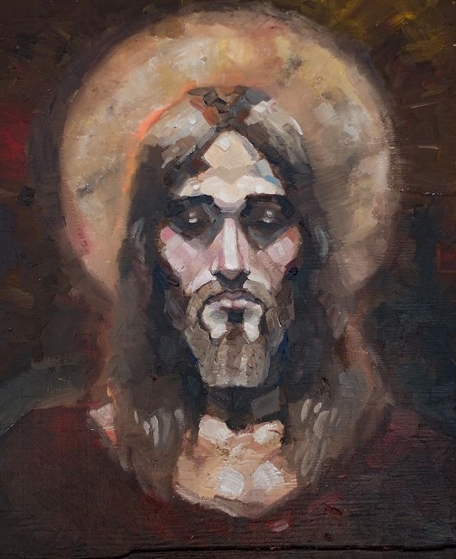 A gorgeous new painting by my little sister @elizacrofts - my Master Jesus Christ. I'm so grateful for the grace He freely gives me every day. I need it desperately. #christ #jesus #jesuschrist #savedbygrace #god #mormon #lds #christian #christianity #christianart  #ldsart #ldsartist #utahartist #byu #provo #utah #princeofpeace #fineart