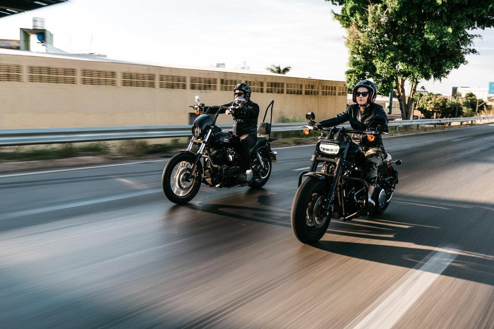 Casal Moto Harley Davidson Goiania