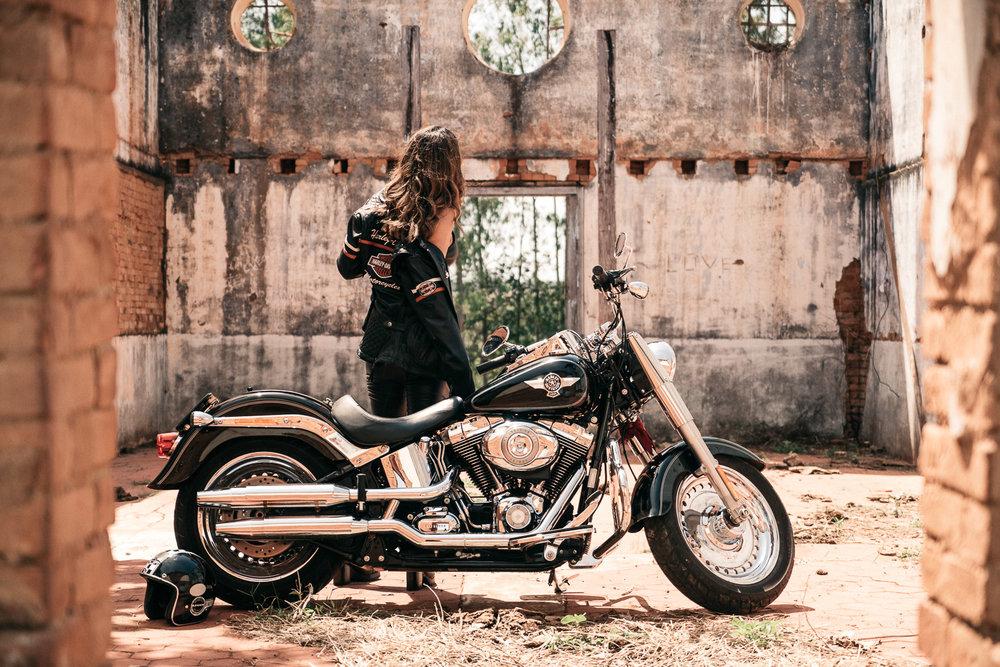 Ensaio Feminino Harley Davidson Goiania