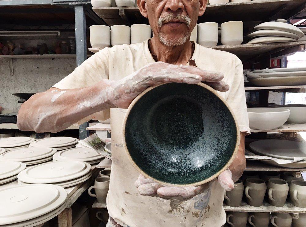 Las bases de cerámica del Taller de Paco Padilla