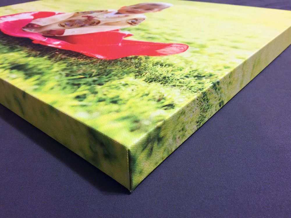 My vendor created corner edges that look perfect! 1.25 canvas depth.