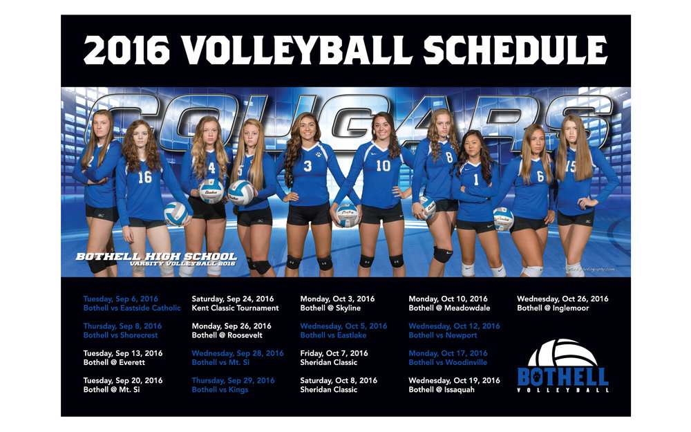 Schedule. Go check out a game and support the Cougars if you're around!