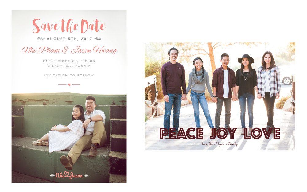 Save the Date email design, Photo Credit:  Silicon Valley Designs . Hyun family Christmas card design and photography.