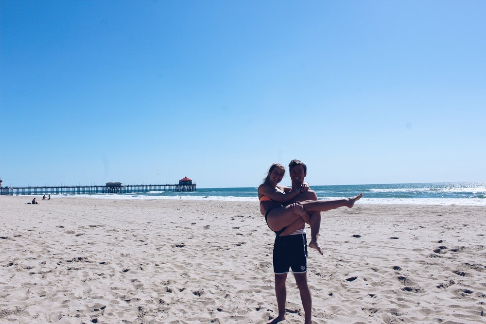 California Vacation -- couples on the beach