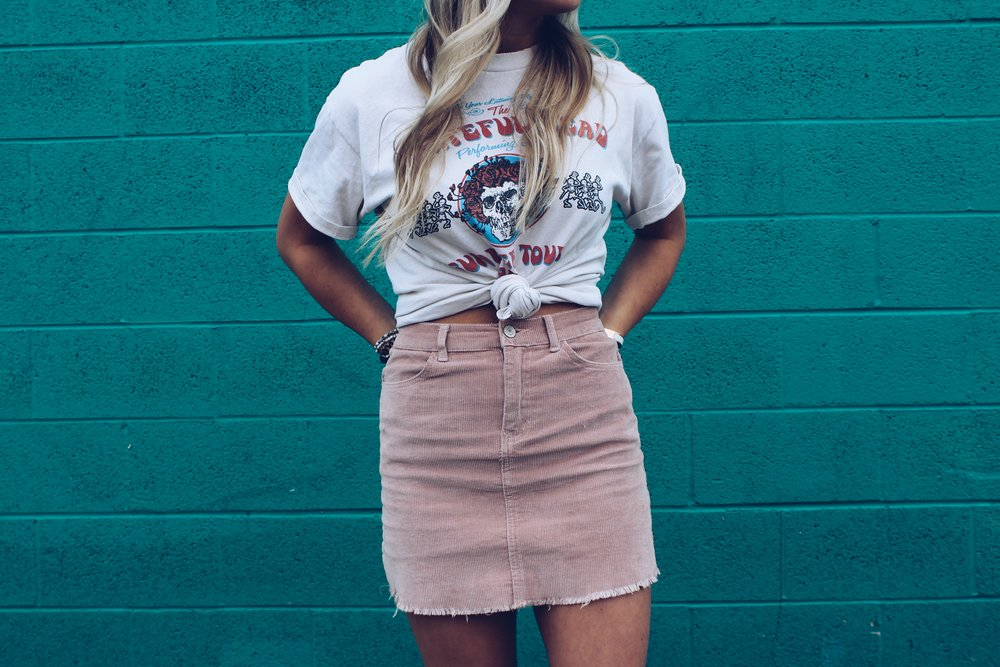 Styling Band T-Shirts with Skirts