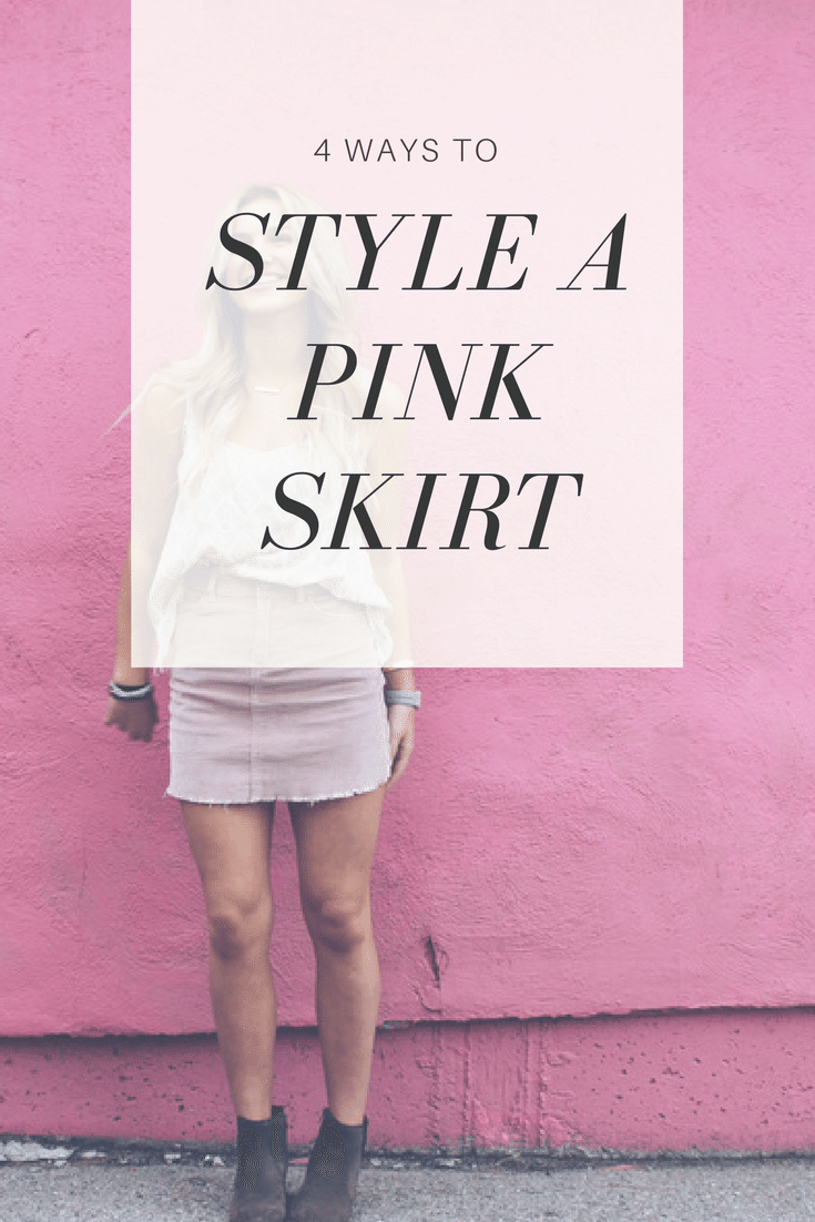 4 Ways to Style a Pink Skirt