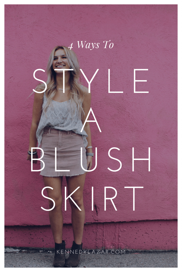 4 Ways to Style a Blush Skirt
