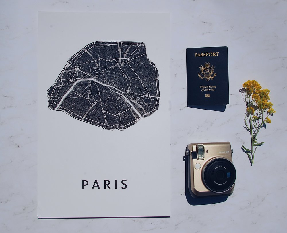 How to Travel on a Budget - Flat Lay Photography Ideas
