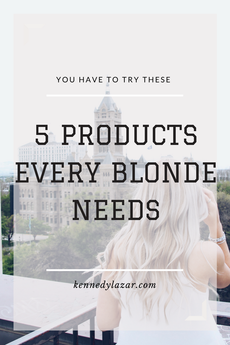 5 Products Every Blonde Should Be Using