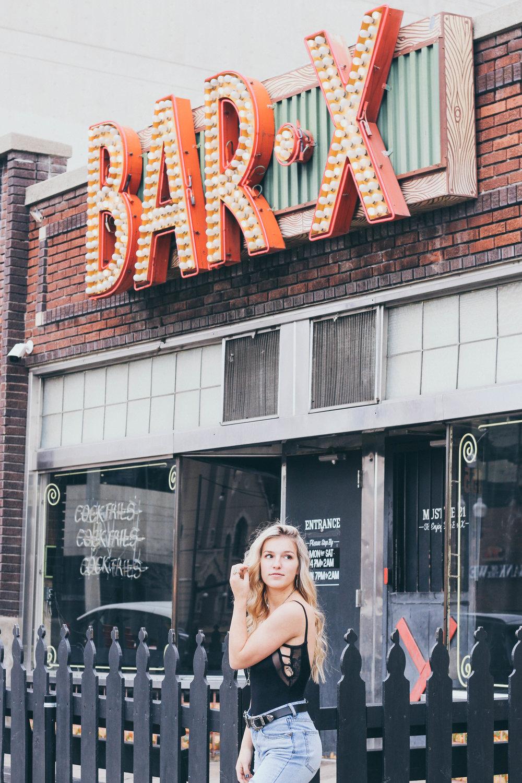 Joah Brown Bodysuit and Billabong Denim Jeans
