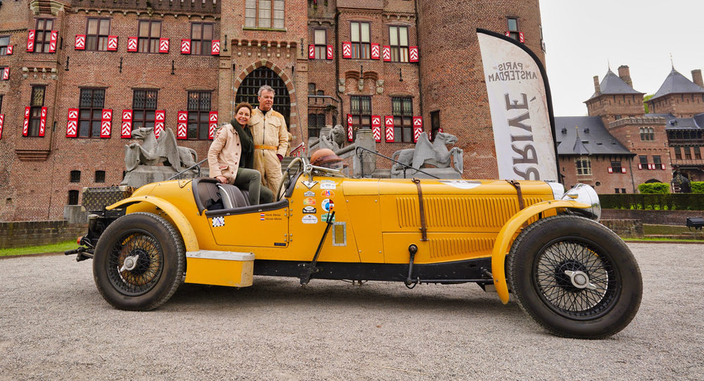 Alvis Speed 25 Special after winning the 2018 Paris - Amsterdam Rally hosted by KNAC.  image source: KNAC.