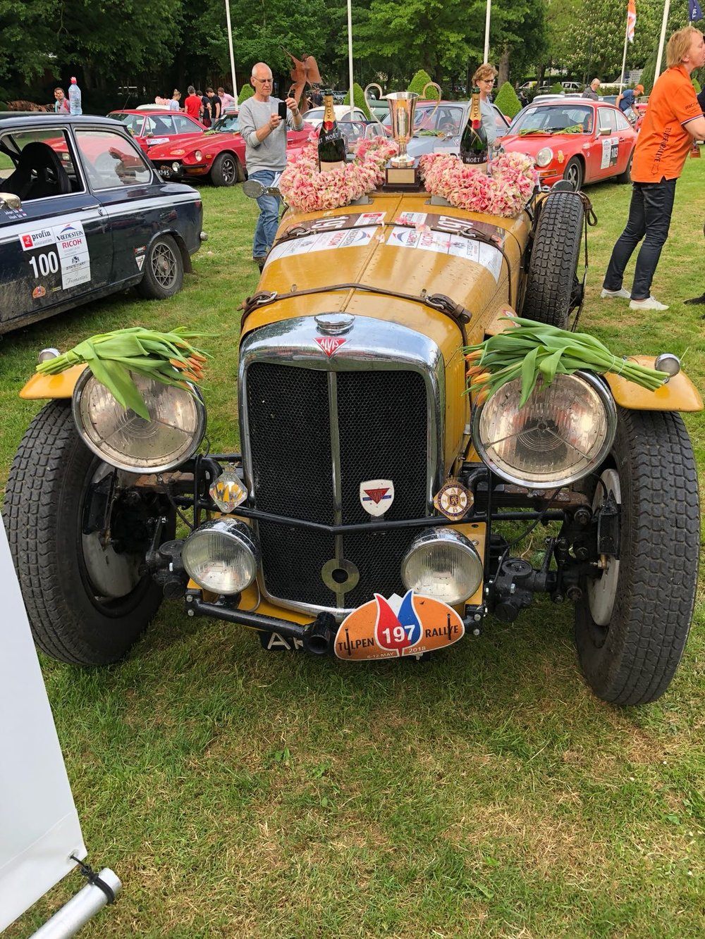 Alvis Speed 25 Special after winning the 2018 Tulpen Rallye.