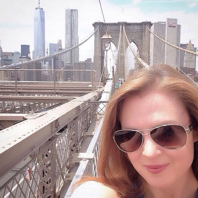 Angie at the Brooklyn Bridge.JPG