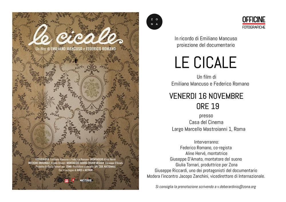 Le Cicale - La Casa del Cinema di Roma invito.jpeg