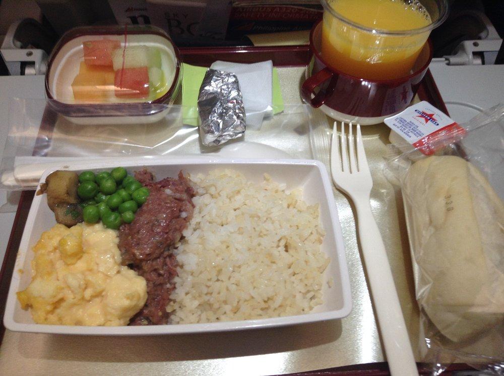 フィリピン航空 機内食 朝ごはん