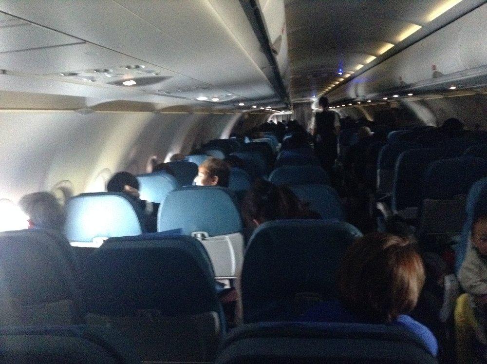 フィリピン航空 飛行機内