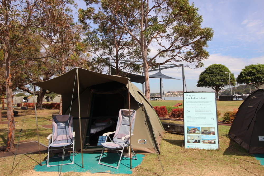 Glamping in Cockatoo Island