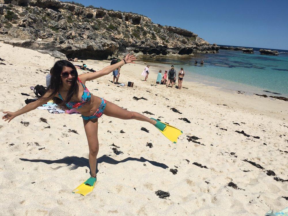 snorkeling en la isla Rottness