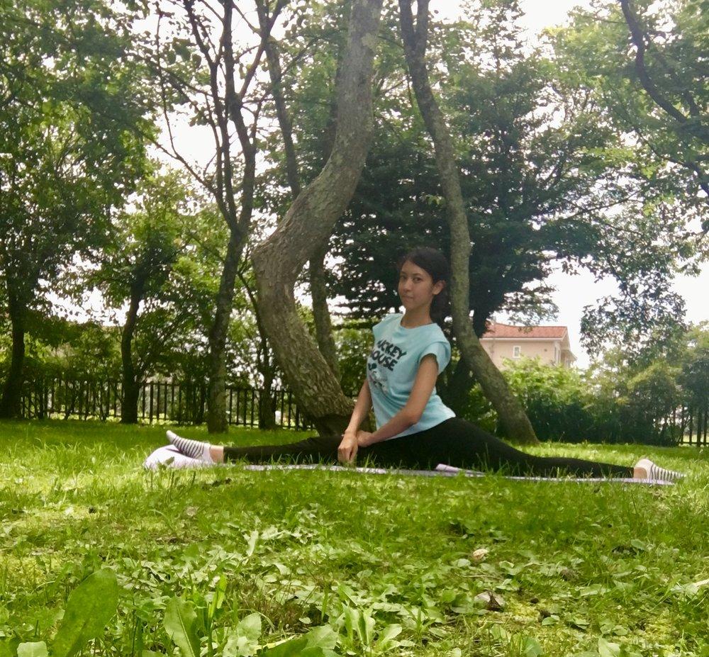 The splits or monkey pose