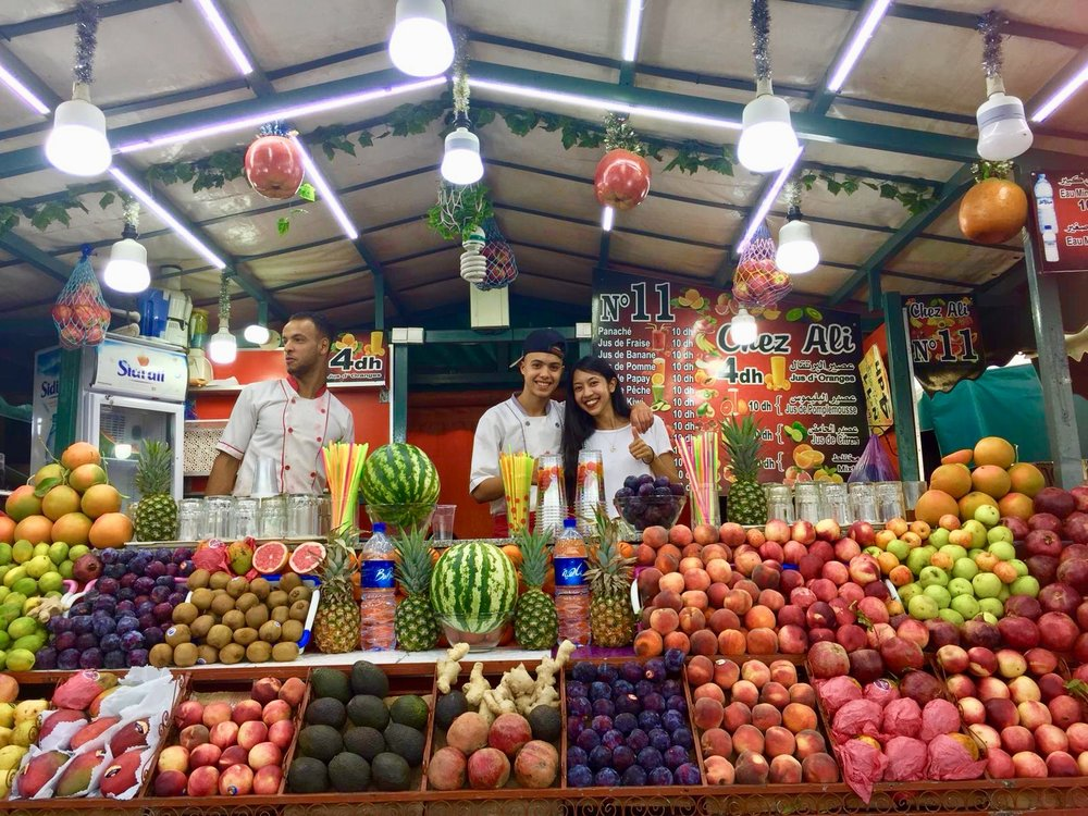 Marrakesh juice stand