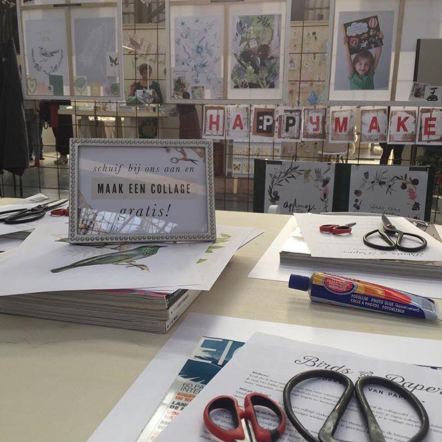 Introductie van onze workshop op @creativelifenl in de stand van @happymakersblog 💕✂️