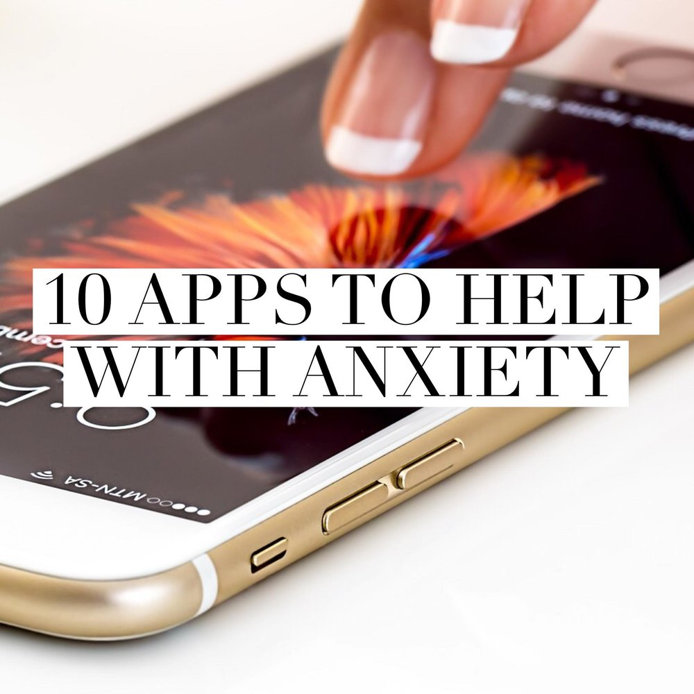 Button: 10 Apps to help with anxiety Image: iPhone