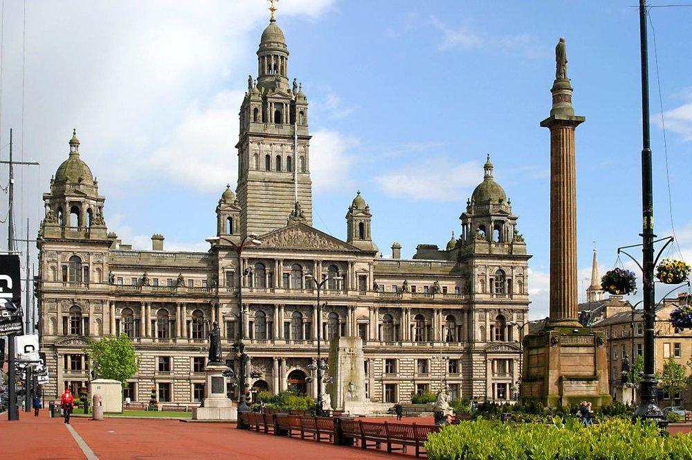 Das Rathaus von Glasgow