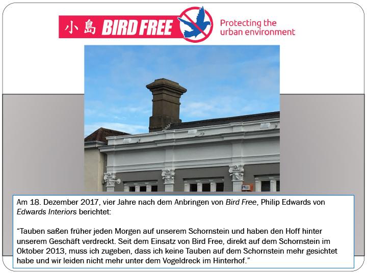 Kundenbericht - Bird Free vier Jahre im Einsatz