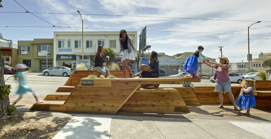 Interstice Architects Sunset Parklet Parklet