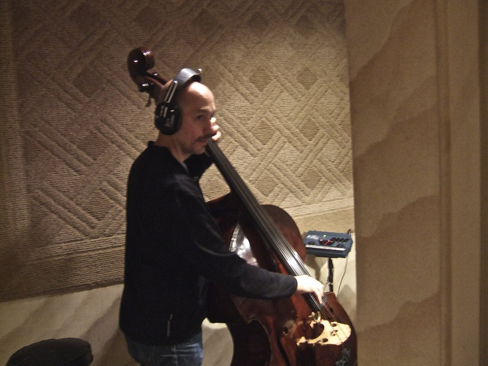 Bassist Phil Palombi (using Scott LaFaro's bass for the recording) sentenced to solitary confinement in the isolation booth for bad behavior.