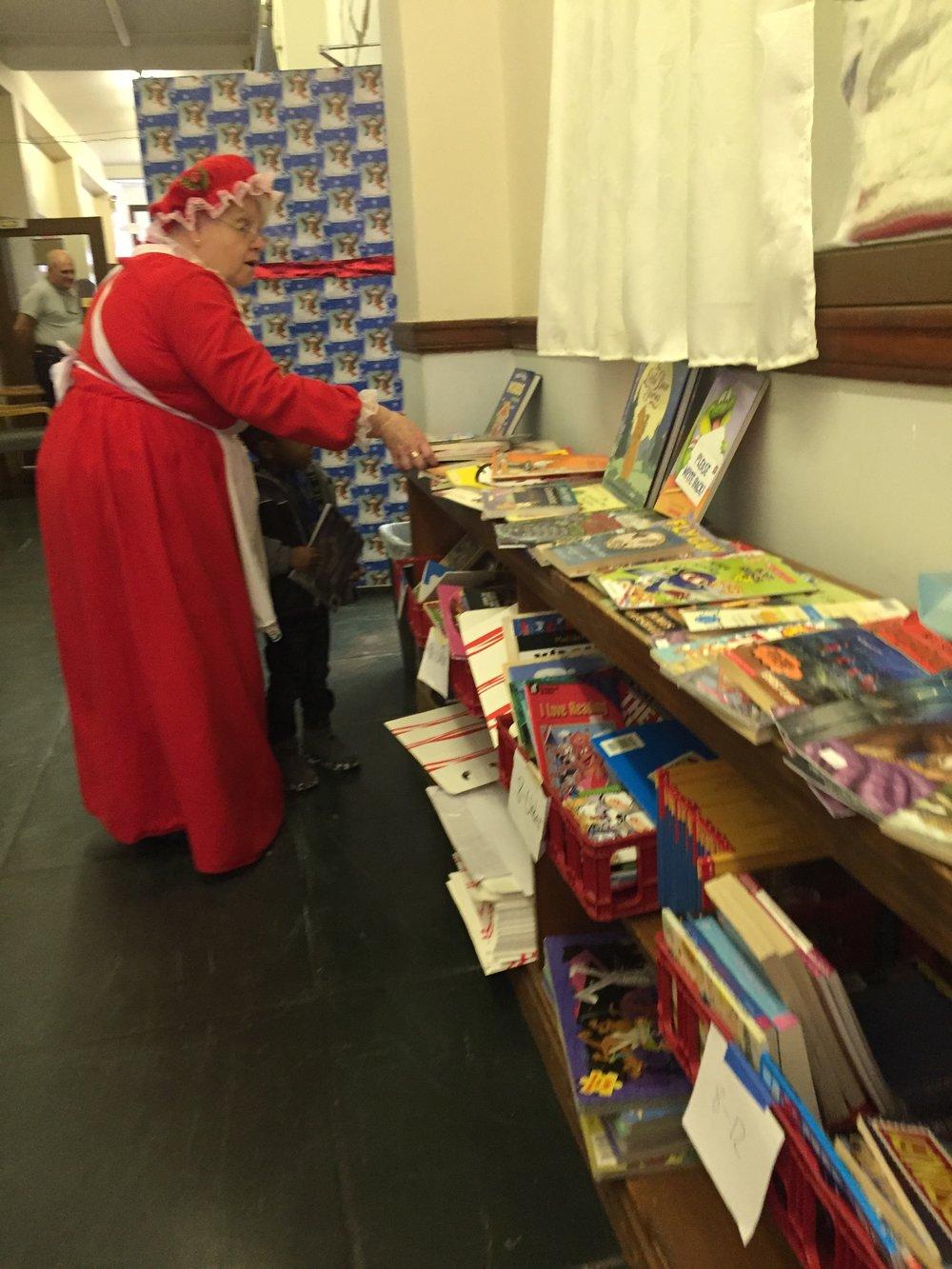SVDPP 2017 Mrs Santa Books.JPG