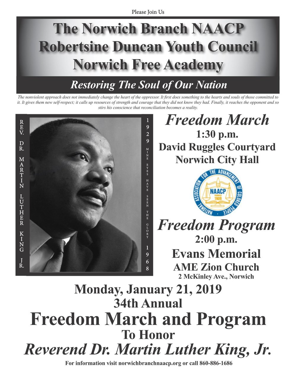 34th Annual Freedom March Program To Honor Reverend Dr Martin