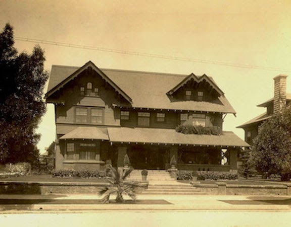 """From Sakki Selznick: Several years ago, we lived in a house much like this one in West Adams, which at that time was a mostly middle class African-American enclave West of USC, in the heart of Los Angeles. We--white and Jewish, clinging to Middle Class by our fingernails--were fortunate to have found it.  The area had been built around the turn of the 20th century for the white, upcoming-well-to-do. But, by the Great Depression, the fancy part of town had moved North and West to Country Club Park. During those tough years of the 1930s, many of the great homes of West Adams took in boarders.  By 1947-48, the first Negroes (as they were then called in polite company) moved in. These were another wave of the well-to-do--lawyers, insurance company owners, teachers, nurses, doctors, movie stars on the order of Hattie McDaniels, the first African-American to win an Oscar. That didn't matter. Local response was burned crosses, minor riots and white flight.  I came to learn our block had someone of color who had moved in long before 1947. According to my neighbor down the street, her great-aunt had built their sweet Craftsman cottage in 1908, when that branch of the family was  passing for white .  Her story started me on the long road to writing my novel, """"The Color of Safety,"""" about bigotry and social justice over 100 years in 1 house in West Adams."""