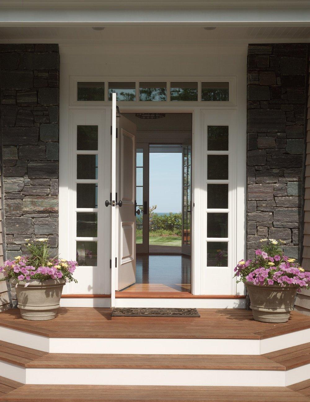 Front door opens to the view