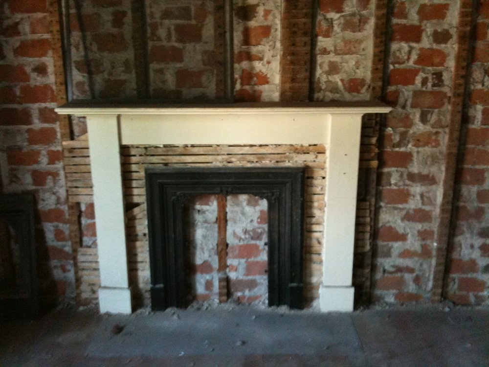 BLOCKED OFF FIREPLACE