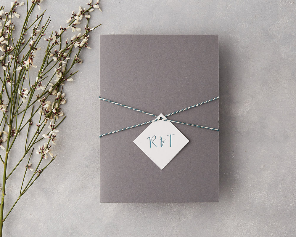 Twine Tied Pocketfold Invitation