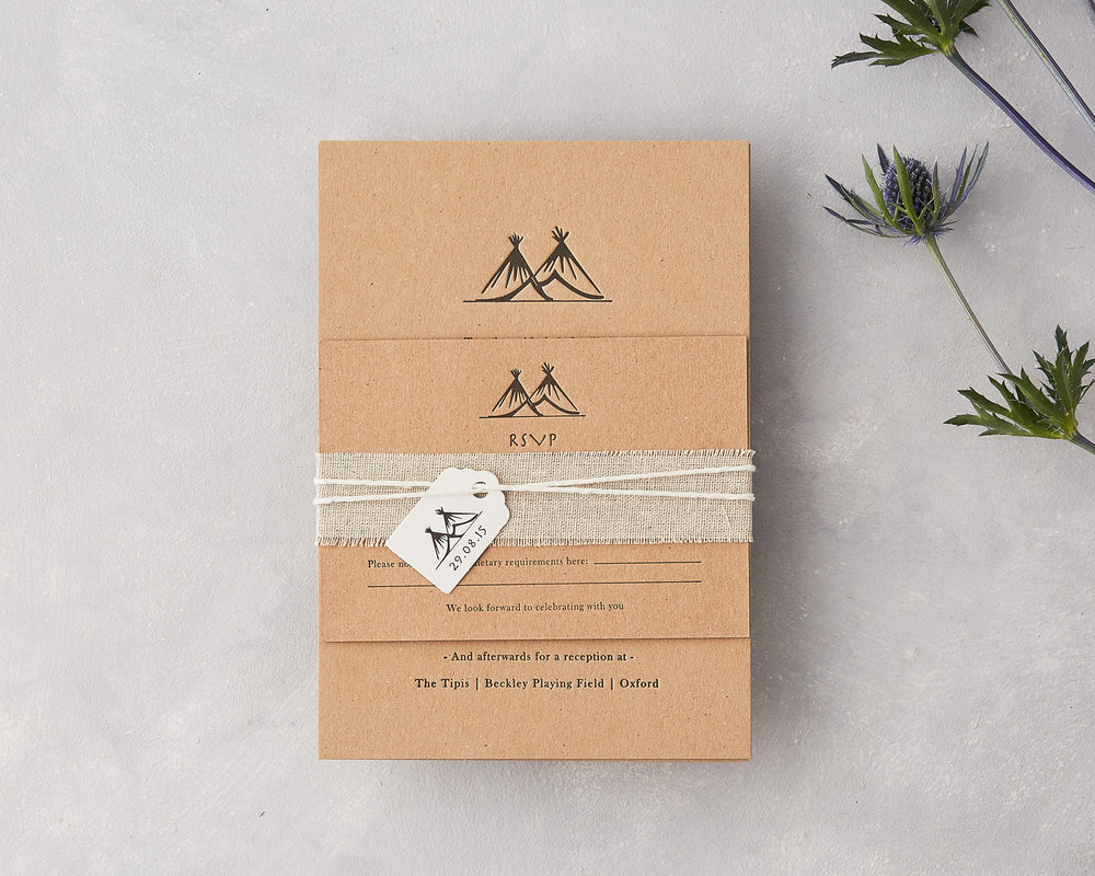 Tipi Wedding Invitation Set
