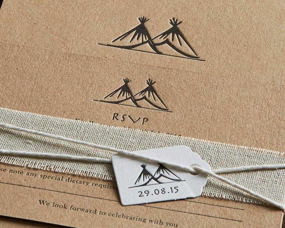 Tipi Wedding Invitation Motif