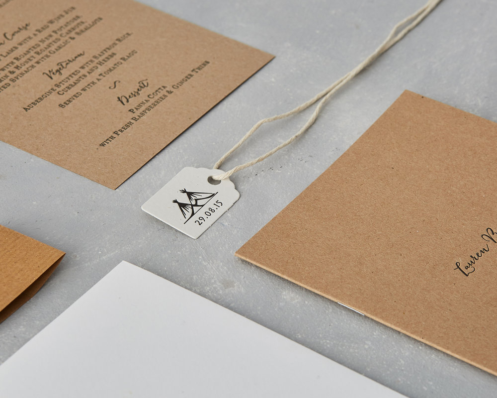 Letterpress Wedding Tag