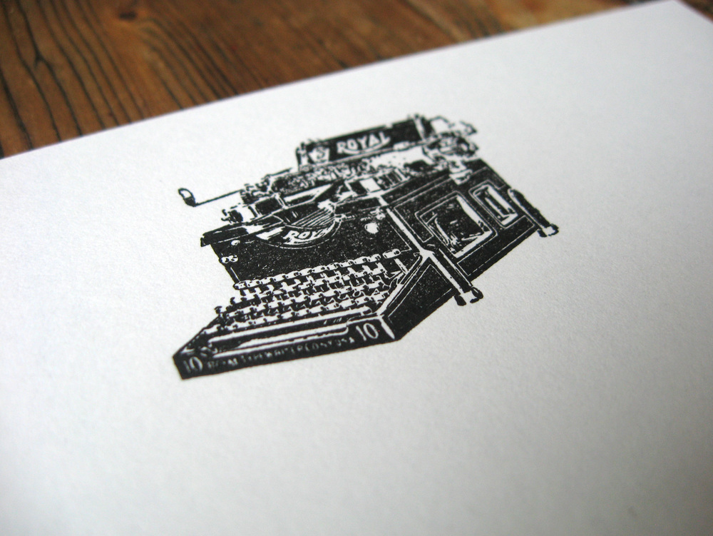 Typewriter Headed Paper for a Wedding Guest Book from  Vintage Engraving.