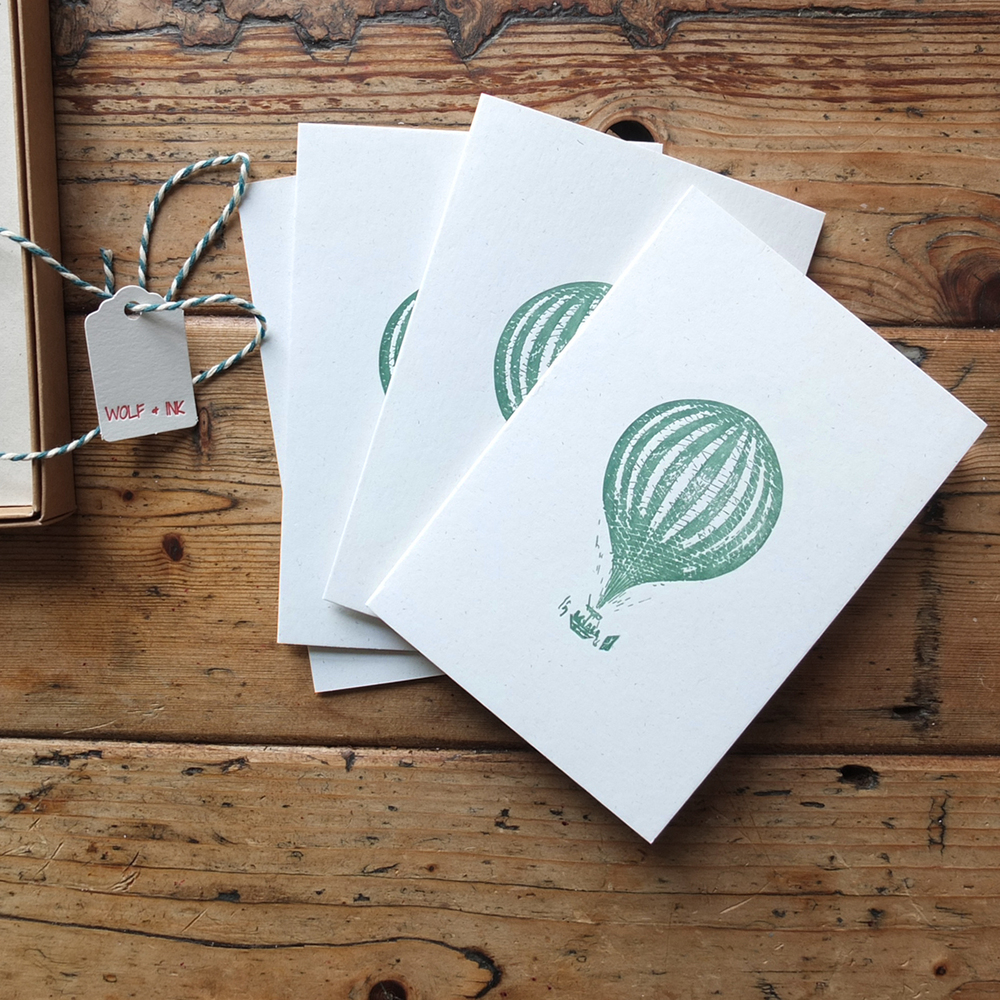 Box of Hot Air Ballon Greeting Cards