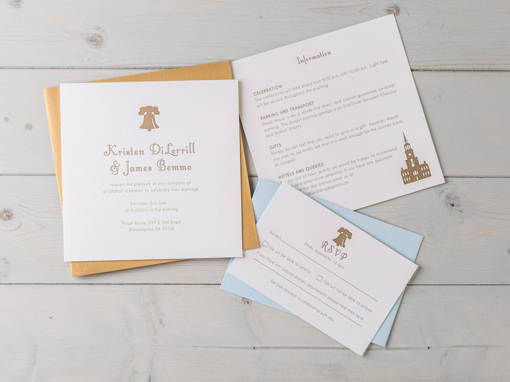 Two cities, two weddings, Philadelphia & London