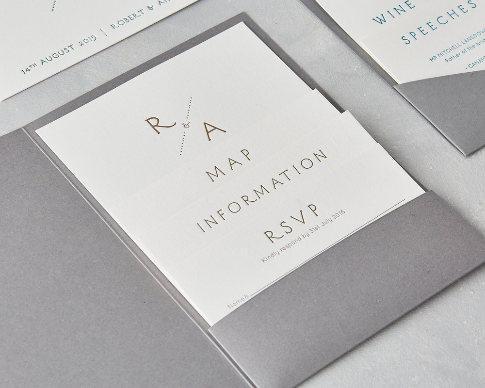 Stacked invitation cards