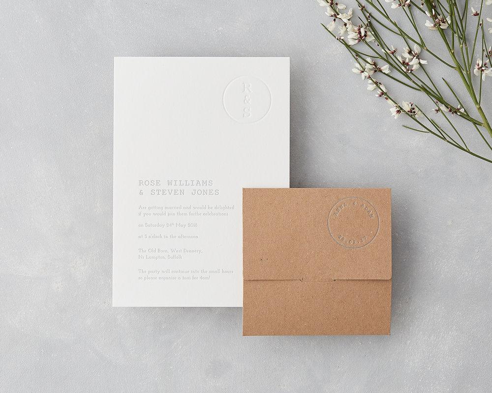 Letterpress Invitation Set