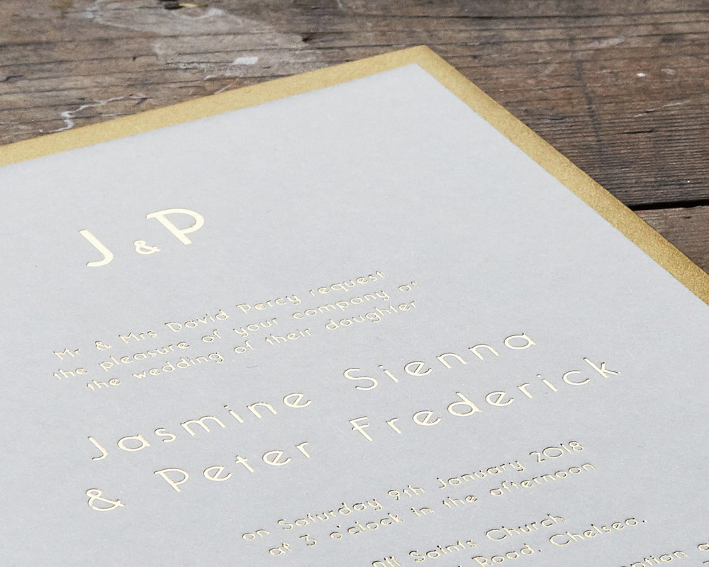 Gold Foil Invitation Detail