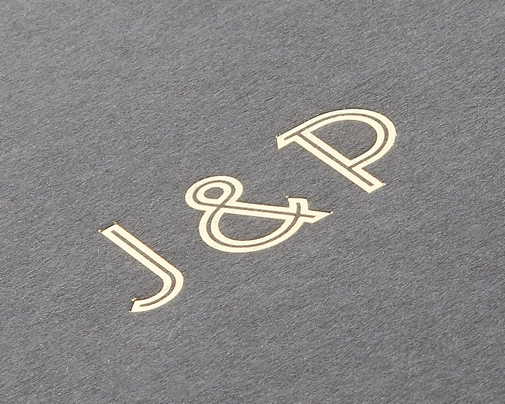 Gold Foil Pocketfold Detail