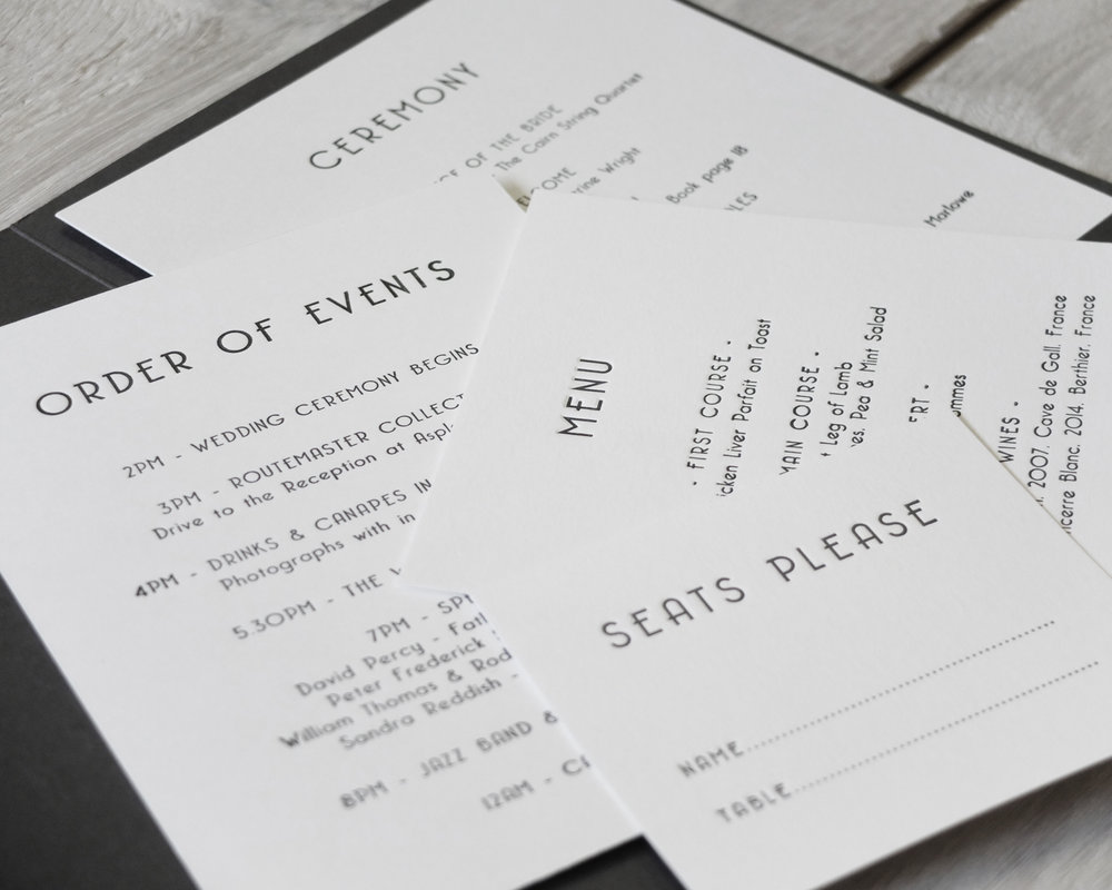 Ceremony & Reception Stationery