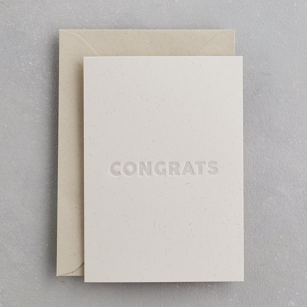 Congrats - Congratulations Card Uniquely Letterpress Card